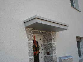 Vordach Beton wärmebrücken an fassaden mit wärmedämmverbundsystem